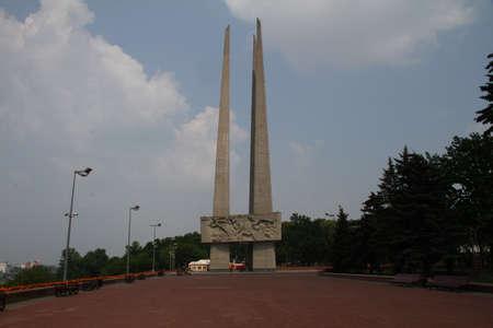 belarus: Three bayonet Monument in Victory Square. Belarus, Vitebsk