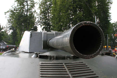 weapons: Military weapons. The barrel Sannon Stock Photo
