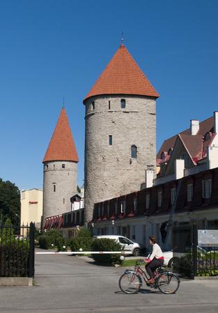 tallinn: Estonia. Tallinn. Towers of the Old City.