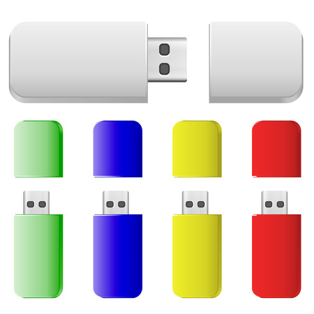 changed: Flash cards of different colors. Vector Image. Colours easily changed.