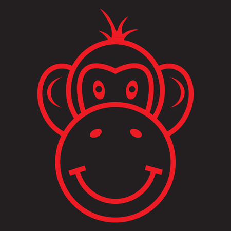 chinese astrology: Red Fire Monkey. Chinese New Year. Astrology. Vector Image.