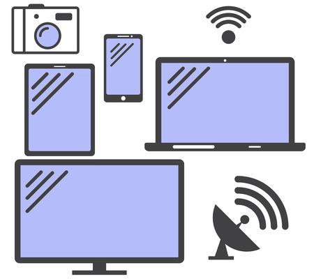 Satz von einfachen Symbole Gadgets. Standard-Bild - 61286381