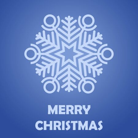 Congratulation Merry Christmas.  Postcard. Vector Image.