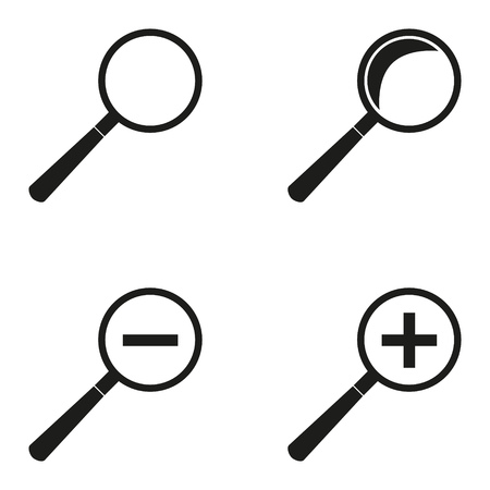 A set of magnifying glasses. Graphic vector image. Ilustrace