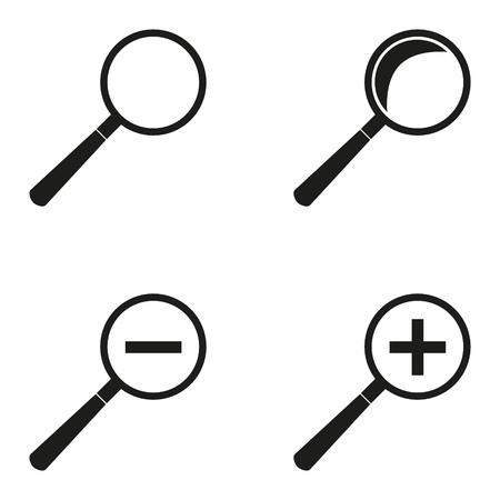 Eine Reihe von Lupen. Grafik-Vektor-Bild. Standard-Bild - 69153904