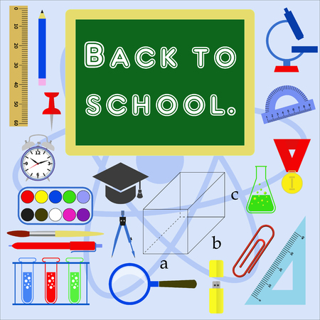 Education. Icons set of subjects for study. Vector image. Ilustrace