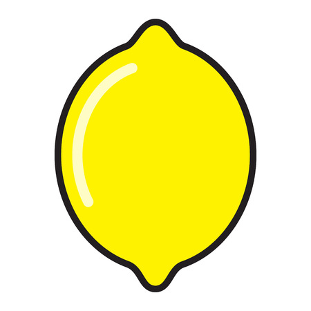 Lemon flat icon. Vector image.