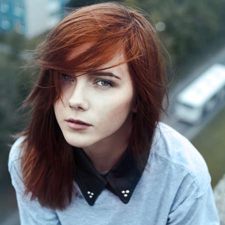 the sad girl: portrait of a beautiful sad girl closeup