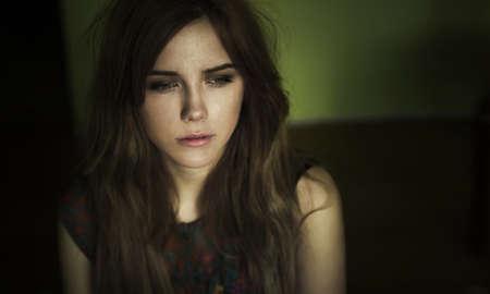 limbo: portrait of a sad girl