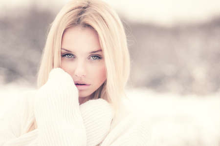 portrait of a beautiful blonde with a sexy look Stock Photo - 25742843