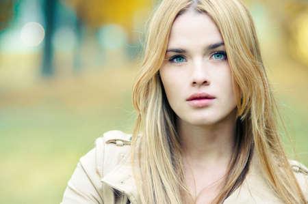 portrait of a beautiful blonde close-up Stock Photo - 25985699