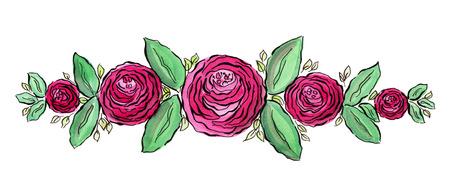 Hermosa Corona De Rosas De Acuarela Guarde La Invitacion De Fecha