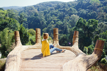 Ecotourism destinations Hoa Son Dien Trang - the Buddhas hand in forest in Dalat, Vietnam