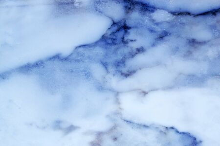 Horizontal lightened slices of iced marble onyx background. Cold blue colors ideal for your design 免版税图像