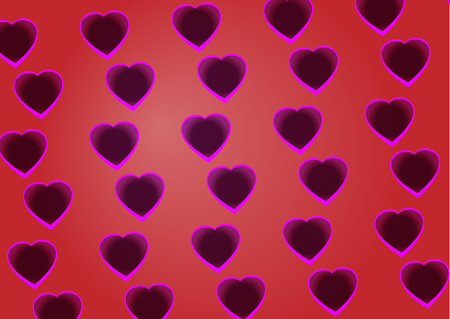 Vector background of hearts Illustration