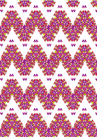 Seamless pattern with abstract zigzagging. Vector illustration.