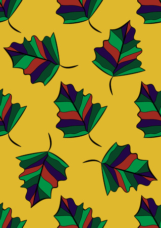 Seamless pattern. Autumn leaves Vector background