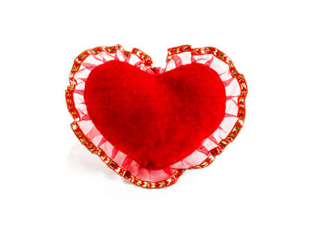 red velvet heart on a white background Stock Photo - 17999432