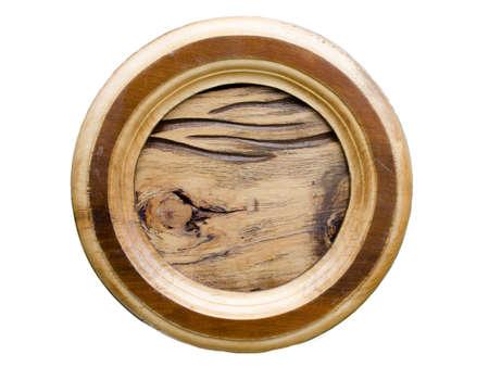 duramen: duramen de tablero de roble en el marco redondo
