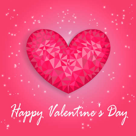 two dimensional shape: Valentines Day card