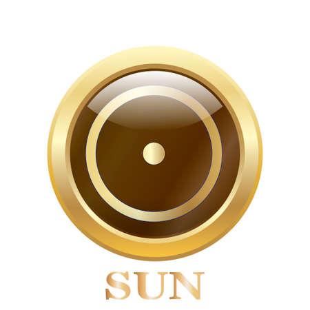 Sun illustration. Vector