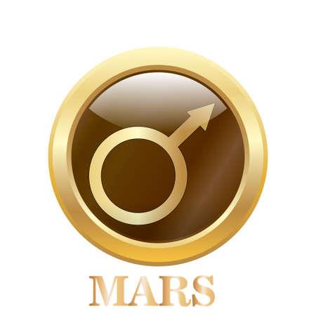 Mars illustration. Vector