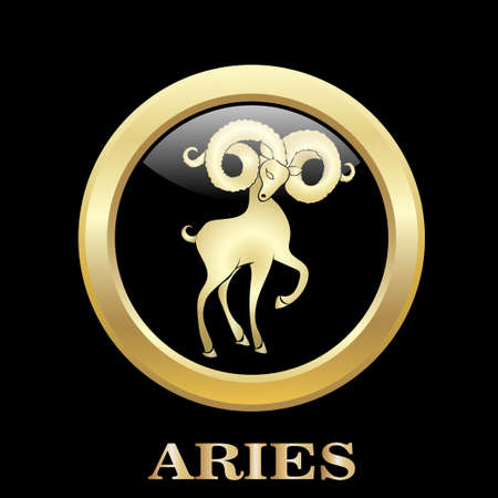 Aries. Astrology sign. Vector zodiac icon. Vector illustration