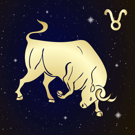 Sign of the zodiac Taurus is the starry sky Illustration Ilustrace