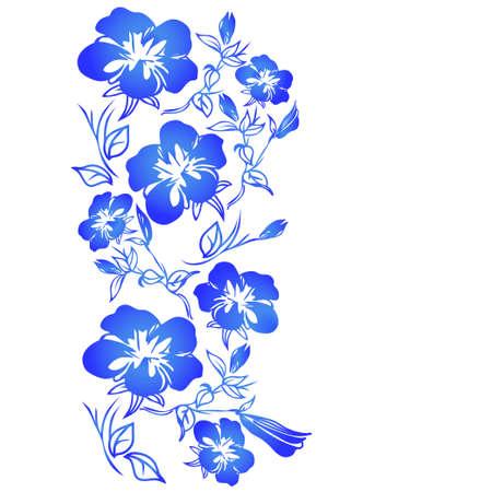 flowering: flowering branch Illustration