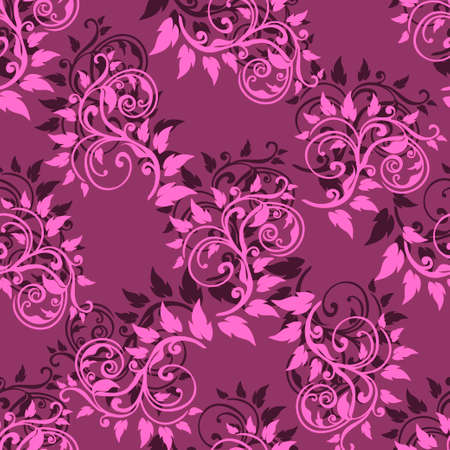 abstract pink: Abstract pink seamless pattern on purple background. Vector illustration