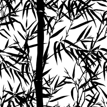bamboo leaf: Seamless pattern. Bamboo leaf background. Floral seamless texture with leaves. Vector illustration