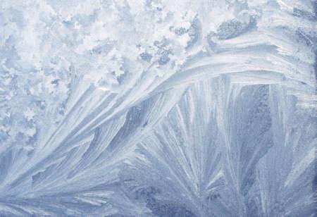 Verre gelé. Les modèles de glace sur le verre d'hiver