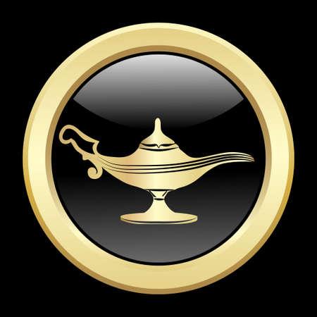 lampara magica: lámpara mágica de oro.