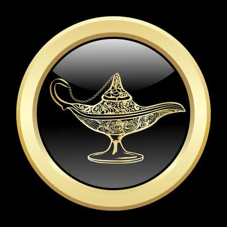 genio de la lampara: lámpara mágica de oro.