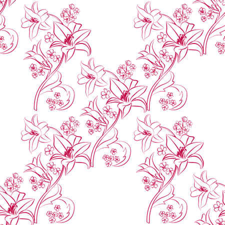 Floral seamless pattern. Floral seamless texture with leaves. Vector illustration