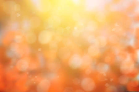 large group of objects: leaf fall abstract background with sun beams and flares. illustration