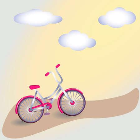 spoke: Vintage Bicycle Vintage Retro Bicycle Background. Retro Illustration Bicycle. Illustration of bicycle. card with bicycle. Simple illustration of bicycle. Illustration