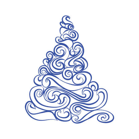 graphical: Graphical Christmas tree Illustration