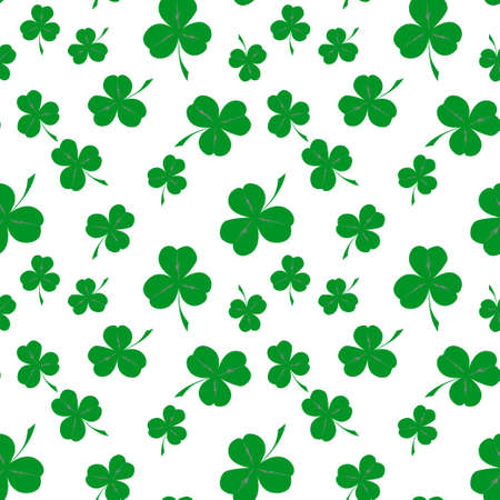 Seamless clover pattern, vector background for St. Patrick's Day. Vector illustration Illustration