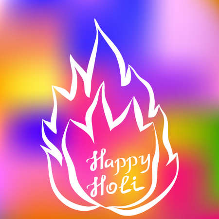 Traditional Holi background of India. Vector illustration