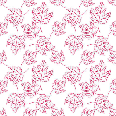Autumn vector seamless pattern.