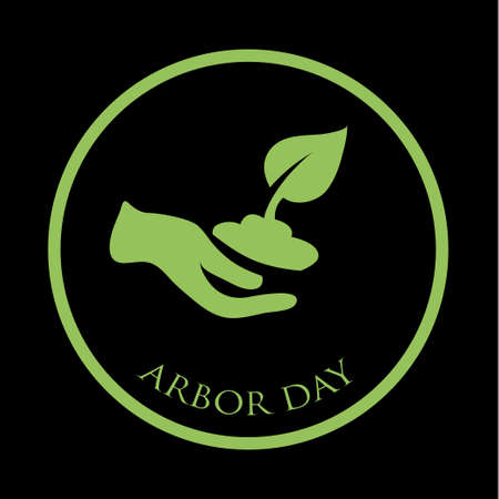 Arbor day concept. Illustration