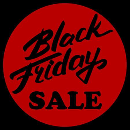 Black friday emblem and text Black Friday Vector illustration.