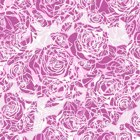 Floral texture with roses. Stock Vector - 88339703