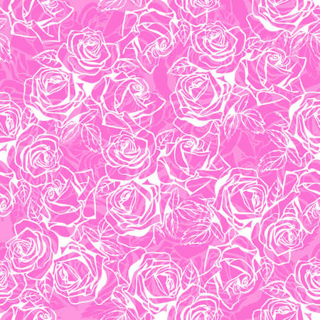 Floral texture with roses. Illustration