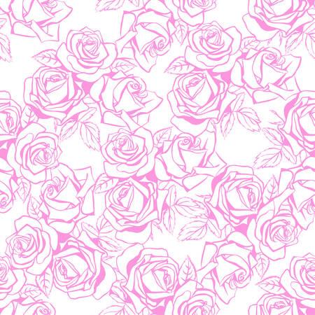 Floral seamless pattern Vector illustration Illustration