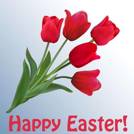 Easter vector vintage card