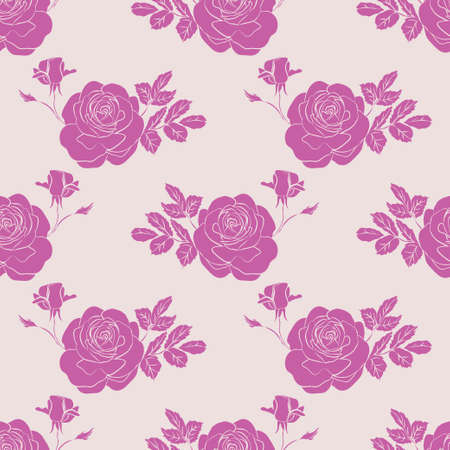 Floral seamless pattern. Floral seamless texture with roses. Vector illustration Stock Vector - 98614146
