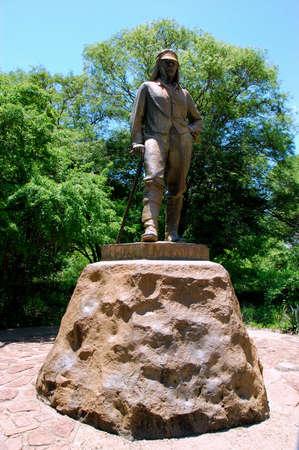 esteemed: Monument to David Livinstone in Victoria Falls