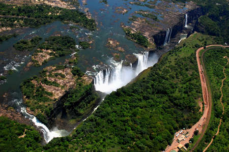 zambia: The Victoria Falls in Zimbabwe